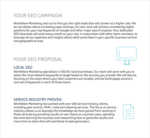 Sample Seo Proposal Template   Free Documents In Pdf Word