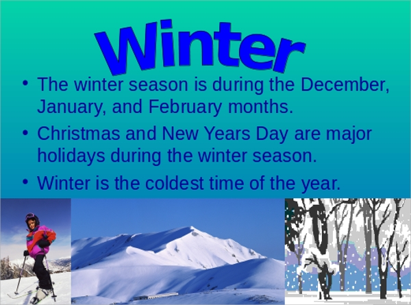 Sample Winter Powerpoint Template   Free Documents In Ppt