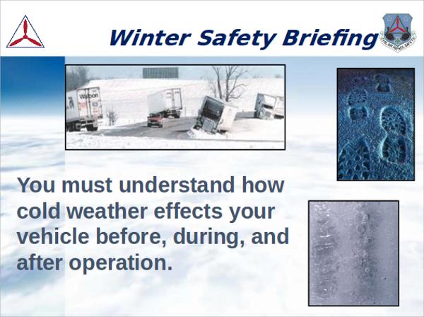winter safety presentation ppt