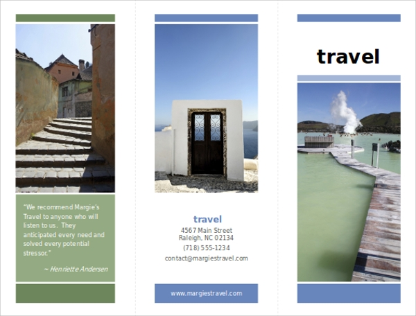 travel brochure presentation ppt