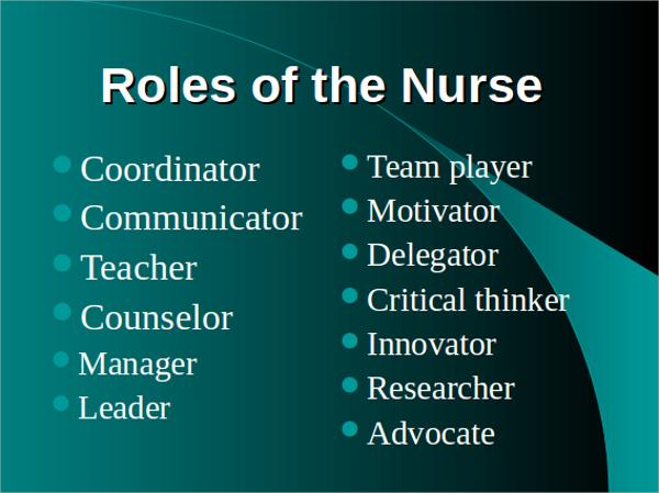 sample nursing powerpoint template