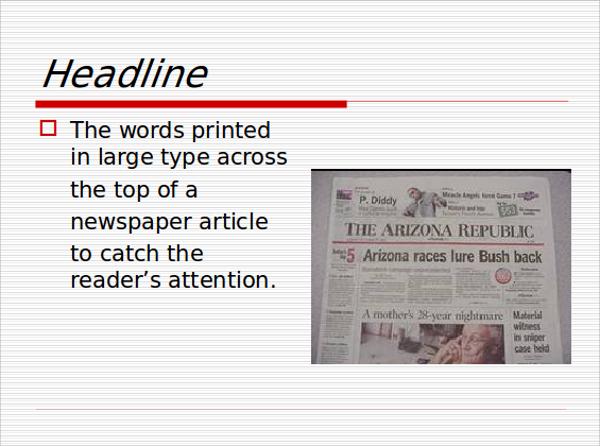 sample newspaper powerpoint template