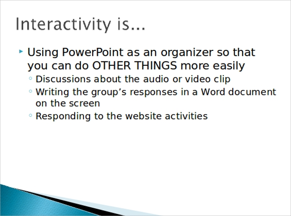 sample interactive powerpoint template 6 free documents