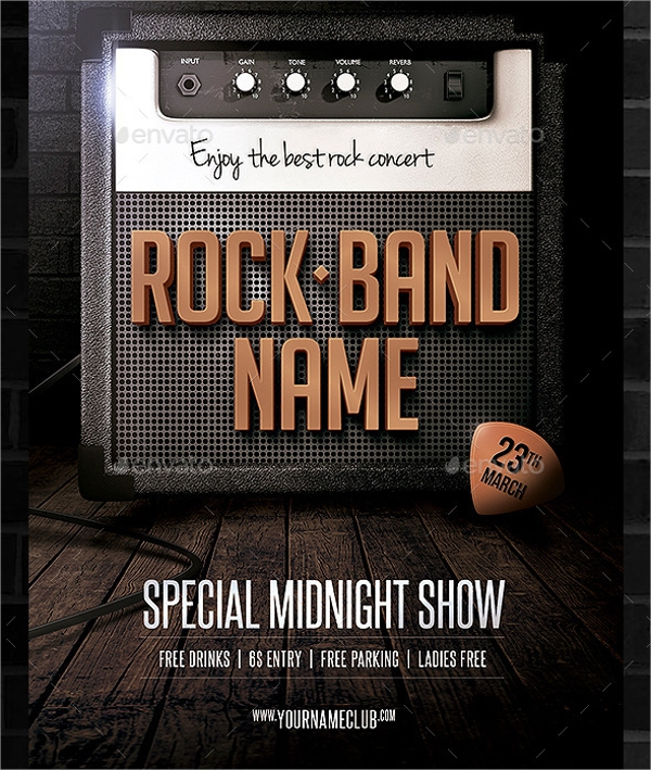 Band Flyer Template - 20+ Download In Vector Eps, Psd