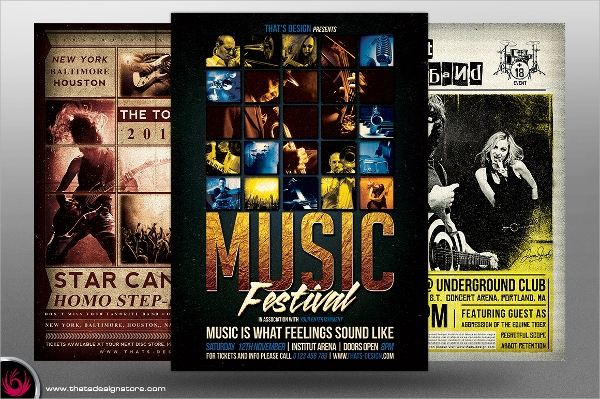 Live Music Band Flyer Template