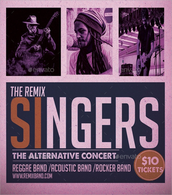 remix band flyer template1