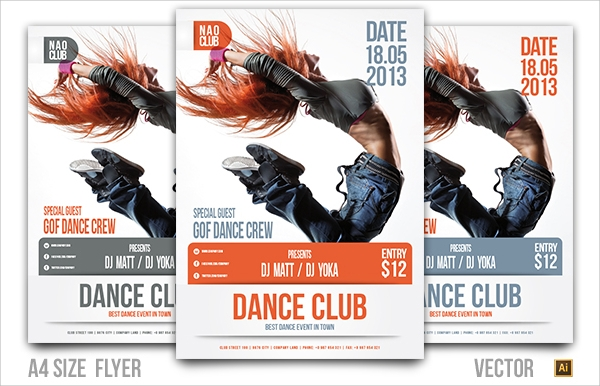 dance club flyer