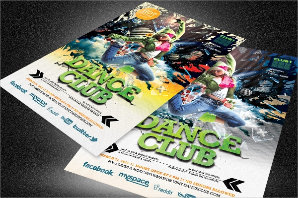 wondrous club flyer template