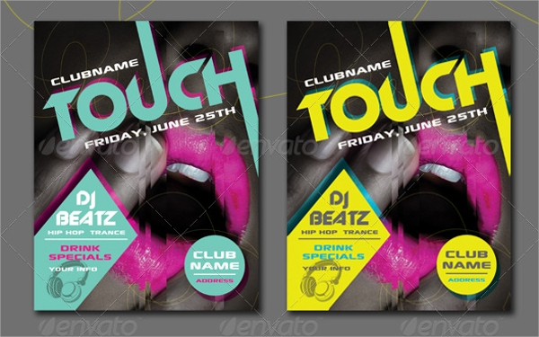 colorful club flyer template
