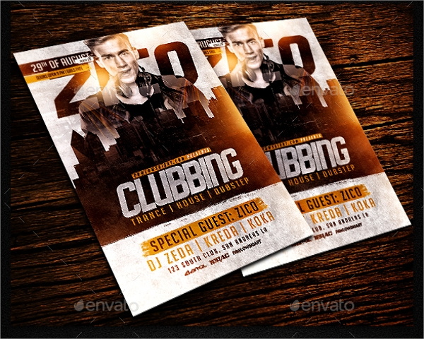 layered club flyer template