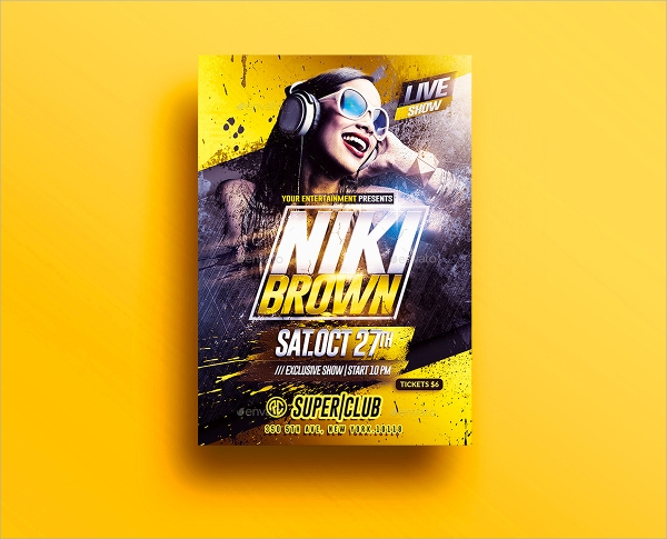beautiful club flyer template