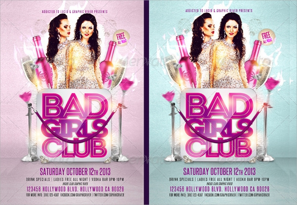 girls club flyer template