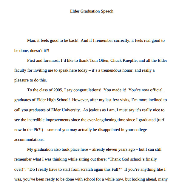 Doc600650 Impromptu Speech Template Sample Impromptu Speech – Ceremonial Speech Example Template