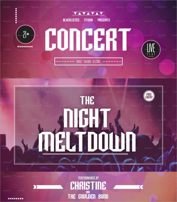 fabulous concert flyer