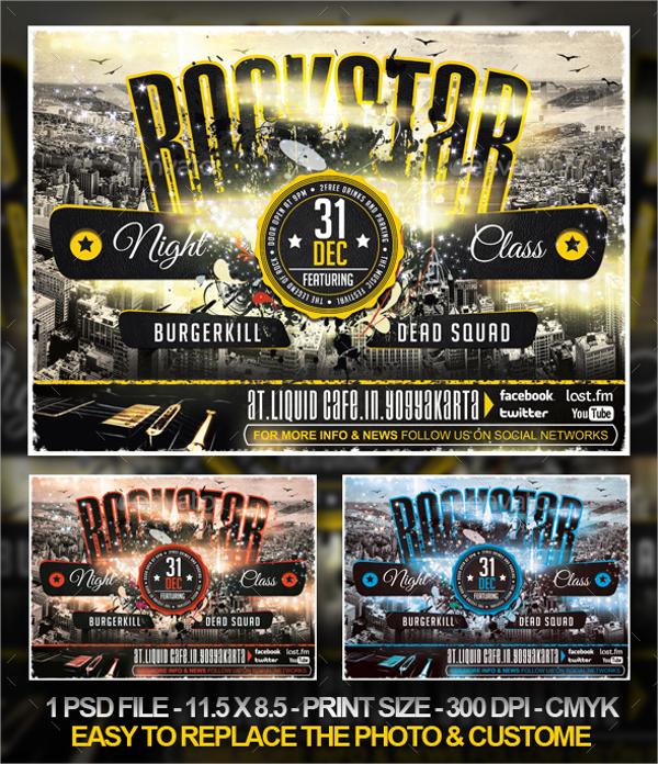 rockstar concert flyer