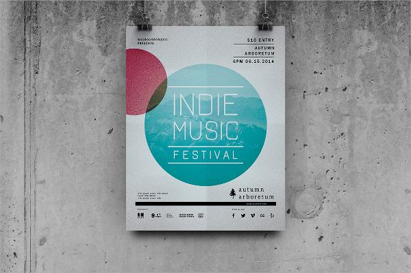 festival concert flyer template