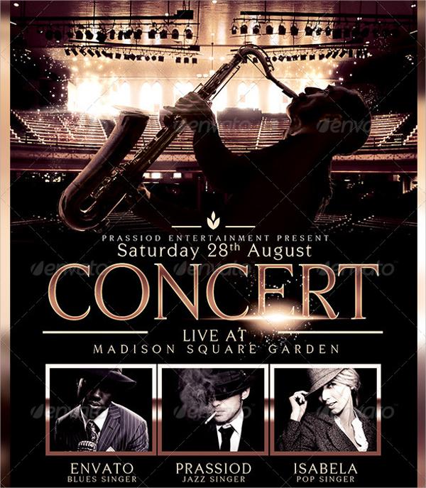 wonderful concert flyer