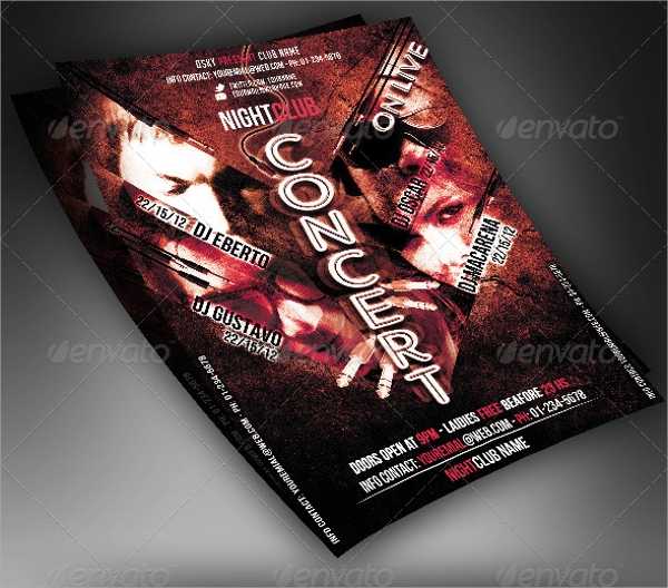photoshop psd concert flyer template