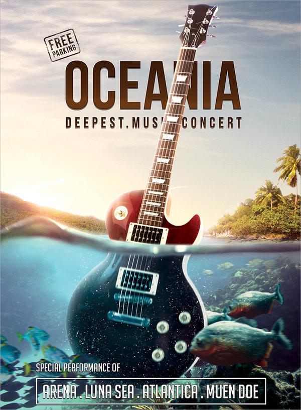 psd concert flyer template