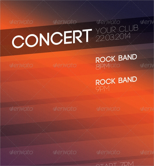 layered concert flyer template