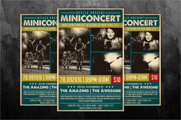 mini concert flyer template