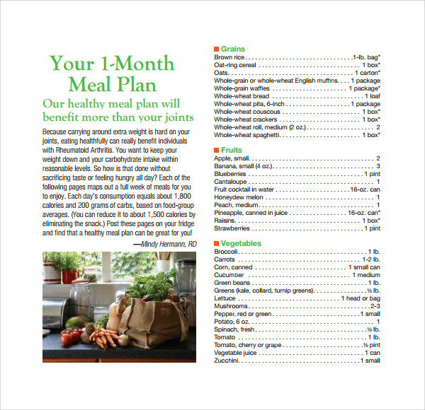 healthy weekly meal plan template%ef%bb%bf