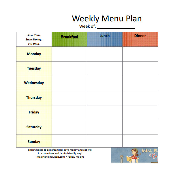 example of weekly meal plan template%ef%bb%bf