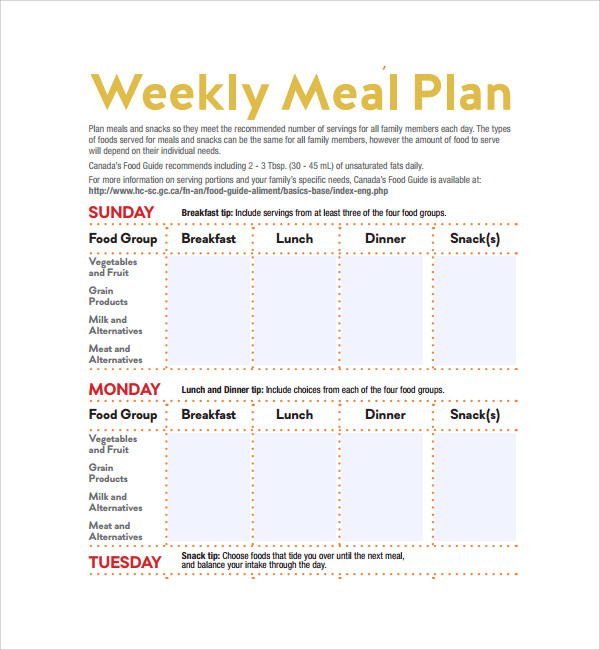 weekly meal plan template pdf%ef%bb%bf