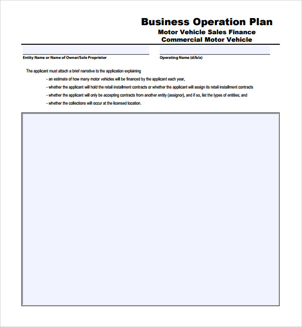 Sample Operational Plan Template Free Documents In PDF Word - Business operating plan template