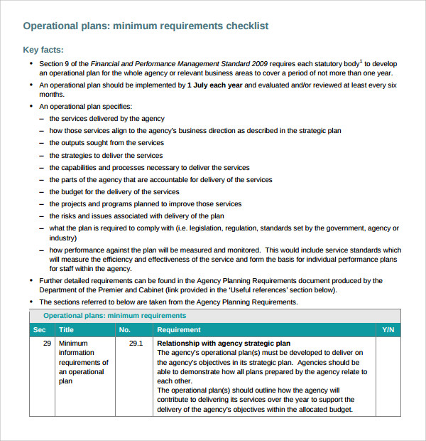 Sample operational business plan for emr