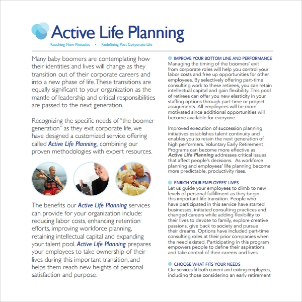 active life planning template