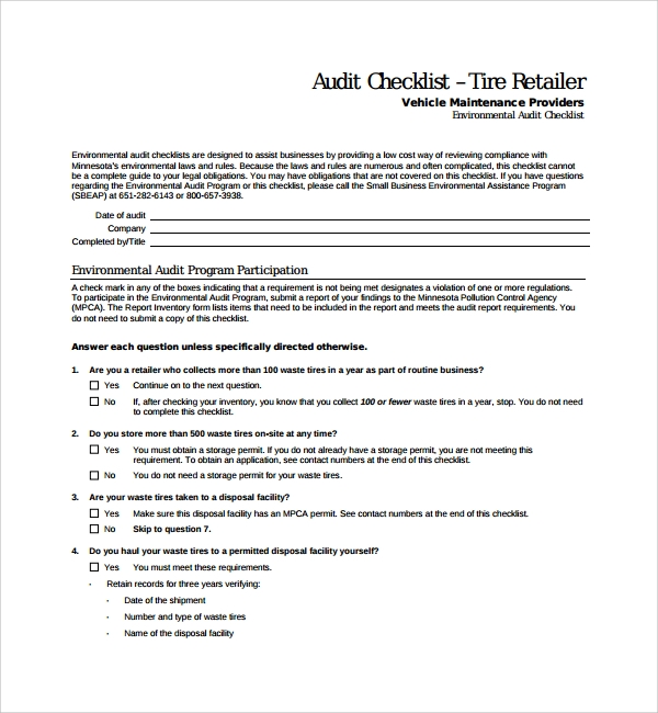 simple audit checklist template%ef%bb%bf