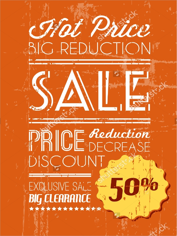 retro style sales flyer template