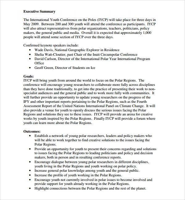 14 Conference Proposal Templates Sample Templates