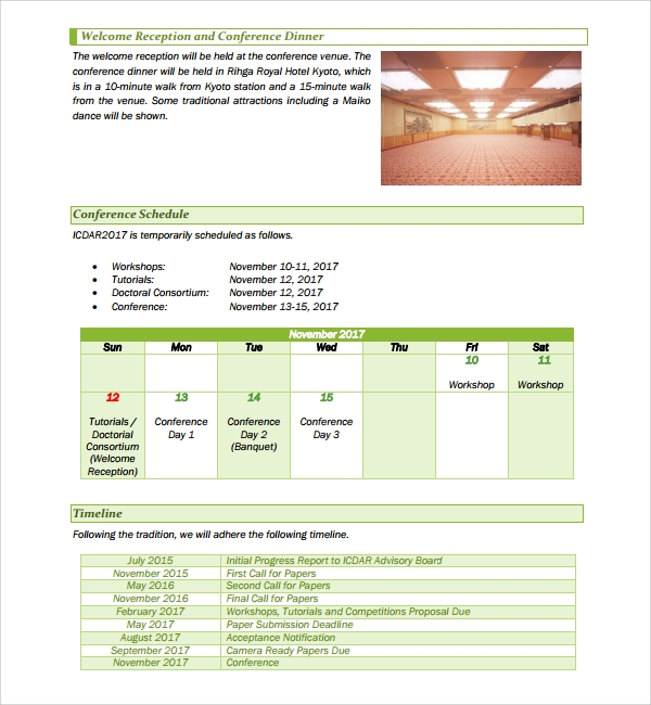 Sample Conference Proposal Template- 9+ Free Documents In Pdf, Word