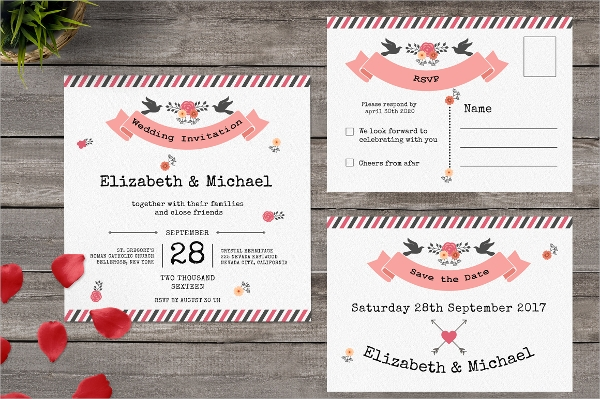 postcard wedding invitation template