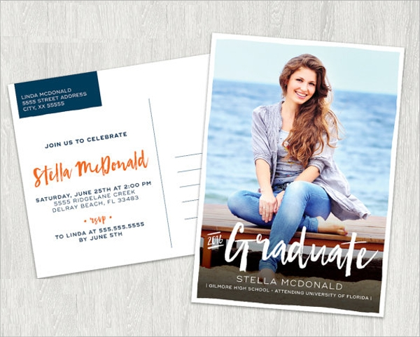 postcard party invitation template