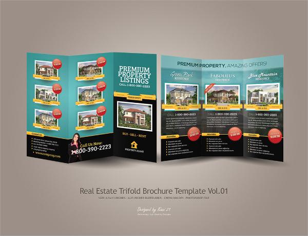 trifold realtor brochure