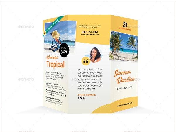Vacation Brochure Templates  Psd Vector Eps Format Download