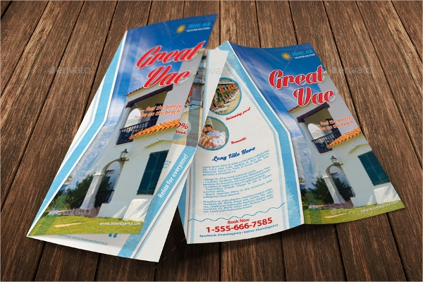 holiday vacation bifold brochure