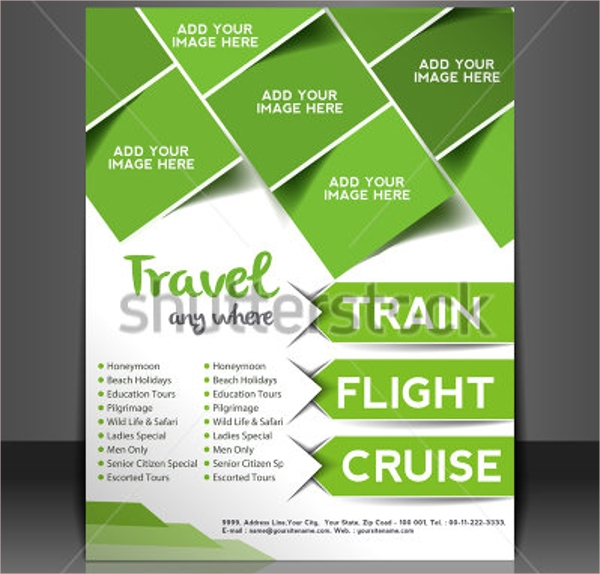 vacations brochure template vector