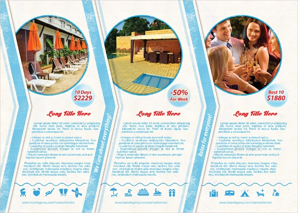 best holiday vacation trifold brochure