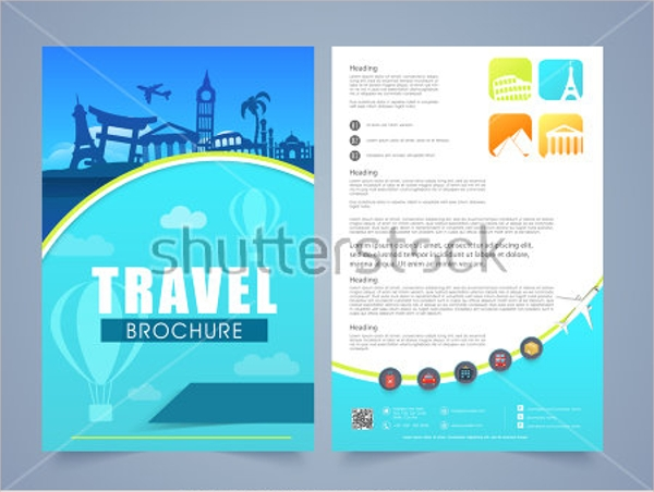 colorful vacation brochure