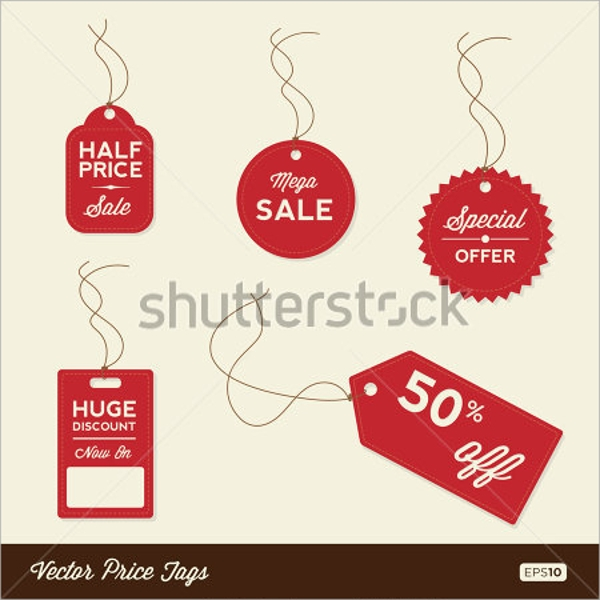 psd sale tag template