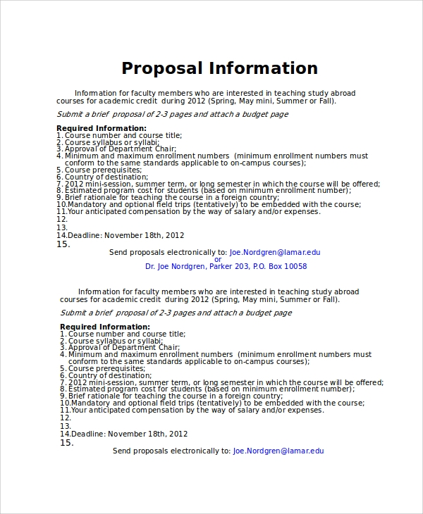 Radio Show Proposal Template  BesikEightyCo