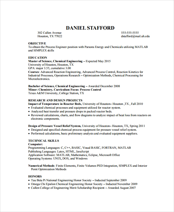 10  biomedical engineer resume templates