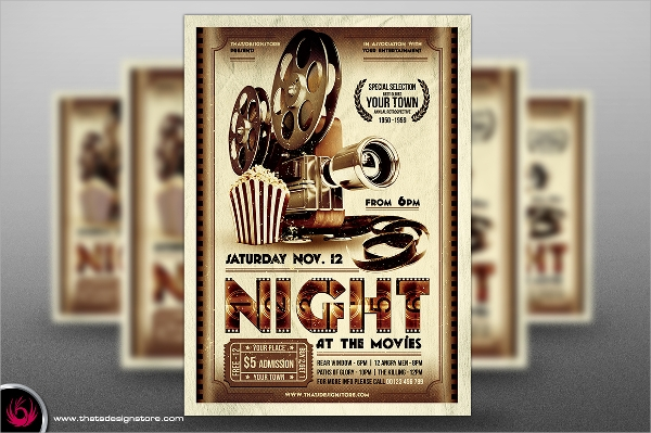 massive movie night flyer