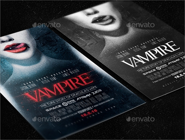 vampire movie night flyer template