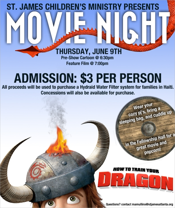 amazing movie night flyer template