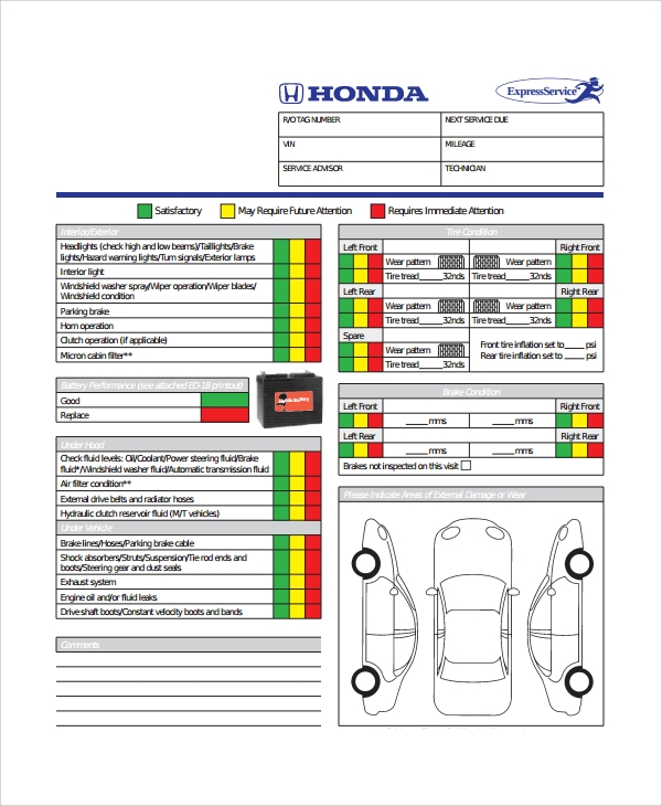 Daily Vehicle Inspection Checklist Template  Imvcorp